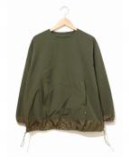 Comfy Outdoor Garment(コンフィーアウトドアガーメンツ)の古着「切替ハーフスリーブTシャツ」|カーキ