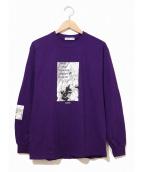 FLAGSTUFF(フラグスタッフ/フラッグスタッフ)の古着「コラボロングスリーブTシャツ」|パープル