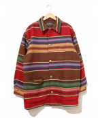 POLO COUNTRY(ポロカントリー)の古着「[古着]ネイティブ柄ラグジャケット」 ブラウン