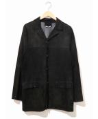 PRADA(プラダ)の古着「[OLD]スエードレザージャケット」|ブラック