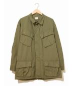 VINTAGE MILITARY(ヴィンテージ ミリタリー)の古着「[古着]60'sジャングルファティーグジャケット」|カーキ
