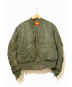 VINTAGE MILITARY(ヴィンテージ ミリタリー)の古着「[古着]60'sヴィンテージMA-1ジャケット」|カーキ