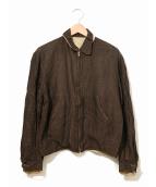 VINTAGE(ヴィンテージ/ビンテージ)の古着「[古着]リバーシブルギャバジンジャケット」|ブラウン