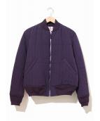 SON OF THE CHEESE(サノバチーズ)の古着「キルティング中綿ジャケット」|ネイビー