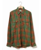 DRIES VAN NOTEN(ドリスバンノッテン)の古着「チェックシャツ」|グリーン