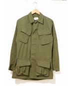 VINTAGE MILITARY(ヴィンテージ ミリタリー)の古着「[古着]70'sジャングルファティーグジャケット」|カーキ