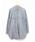 VINTAGE(ヴィンテージ/ビンテージ)の古着「[古着]ヴィンテージシャンブレーシャツ」|インディゴ
