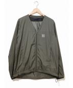 Needles Sportswear(ニードルススポーツウェア)の古着「ウォームアップVネックジャケット」|カーキ
