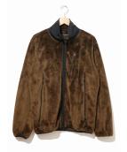 Needles Sportswear(ニードルススポーツウェア)の古着「マイクロフリースパイピングジャケット」|ブラウン