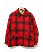 Sears(シアーズ)の古着「[古着]バッファローチェックハンティングジャケット」|レッド