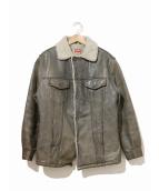 LEVIS(リーバイス)の古着「[古着]80'sレザーランチジャケット」|ブラック