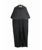 BASISBROEK(バージスブルック)の古着「ジャンプスーツ / オールインワン / つなぎ」|グレー×ブラック