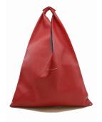 MM6 Maison Martin Margiela(エムエムシックス メゾンマルタンマルジェラ)の古着「ジャパニーズトライアングルトートバッグ」|レッド