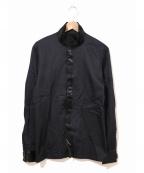 Jean Paul Gaultier homme(ジャンポールゴルチェオム)の古着「[OLD]ベルクロテープスタンドカラーシャツ」 ブラック