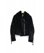 GRACE CLASS(グレースクラス)の古着「ラビットファーライダースジャケット」|ブラック