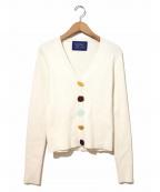 SIMON MILLER(サイモンミラー)の古着「フェイクボタンVネックニット」|ホワイト