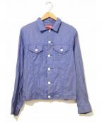 JUNYA WATANABE COMME des GARCON MAN(ジュンヤワタナベ コムデギャルソンマン)の古着「シャンブレートラッカージャケット」|ブルー