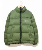 EXAMPLE(イグザンプル)の古着「リバーシブルダウンジャケット」 グリーン×ブラック
