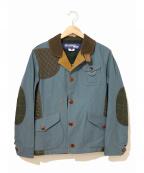 JUNYA WATANABE COMME des GARCON MAN(ジュンヤワタナベ コムデギャルソンマン)の古着「パッチワークハンティングジャケット」|ネイビー×ブラウン