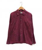 VINTAGE(ヴィンテージ)の古着「[古着]ヴィンテージボックスシルエットシャツ」|レッド