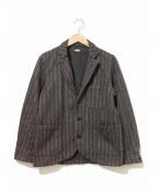 BLACK SIGN(ブラックサイン)の古着「ビーチクロステーラードジャケット」|グレー