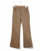 LEVIS(リーバイス)の古着「[古着]トライプフレアスタプレパンツ」|ブラウン