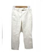 MONCLER(モンクレール)の古着「センタープレスパンツ / コットンスラックス」 ホワイト