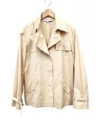 LEONARD(レオナール)の古着「ショートトレンチコート」|ベージュ