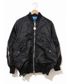 DIESEL(ディーゼル)の古着「BRAVES JACKET / MA-1ジャケット」|ブラック