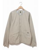 MILLET(ミレー)の古着「ティフォン50000ストレッチVネックジャケット」|ベージュ