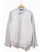 COMME des GARCONS HOMME DEUX(コムデギャルソンオムドゥ)の古着「切替デザインシャツ」|ブルー