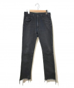 UNUSED()の古着「デニムパンツ」|ブラック