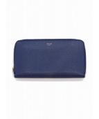 CELINE(セリーヌ)の古着「ラウンドファスナーロングウォレット / 長財布」 ブルー