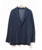 HOMME PLISSE ISSEY MIYAKE()の古着「プリーツジャケット」 ネイビー