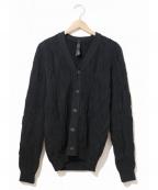 wjk(ダブルジェイケー)の古着「ビートニットカーディガン」|ブラック