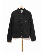 ()の古着「テープデニムジャケット」 ブラック