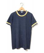 ()の古着「[古着]70sヴィンテージトリムTシャツ」|ネイビー