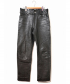 Lewis Leathers(ルイスレザース)の古着「[古着]レザーパンツ」 ブラック
