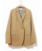 GOLDEN GOOSE(ゴールデングース)の古着「コーデュロイセミダブルテーラードジャケット」|ベージュ