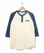 ()の古着「[古着]70'sゴツナイキラグランベースボールTシャツ」|ベージュ×ネイビー