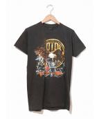 HARLEY-DAVIDSON(ハーレーダビットソン)の古着「[古着]80'sハーレーTシャツ」|ブラック