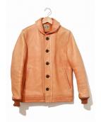 ()の古着「ショールカラーレザージャケット」|ブラウン