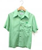 Hilton(ヒルトン)の古着「[古着]刺繍ボーリングシャツ」 グリーン