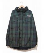 POLO SPORT()の古着「裏フリースチェックジャケット」|グリーン