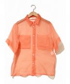 TELA(テラ)の古着「シルクシアーシャツ」|オレンジ