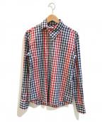 Vivienne Westwood man(ヴィヴィアン ウェストウッドマン)の古着「アシンメトリーカラーギンガムチェックシャツ」|レッド×ネイビー