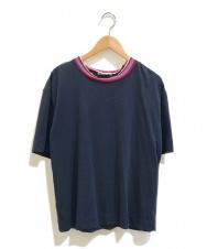 MARNI (マルニ) リブネッククルーネックTシャツ ネイビー サイズ:38表記