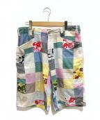 A BATHING APE(エイプ)の古着「エイプカモパッチワークショートパンツ」|マルチカラー