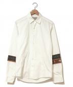Casely-Hayford(ケイスリーヘイフォード)の古着「袖刺繍ロングスリーブシャツ」|ホワイト