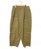 CellarDoor(セラードアー)の古着「ジップカーゴパンツ」|ブラウン